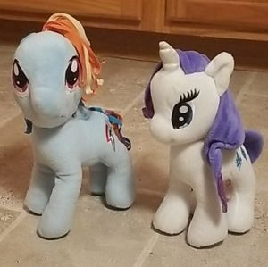 2 Standing My Little Pony Plushies; Make An Offer!